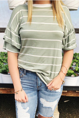 Sage Lynn Double Ruffle Top
