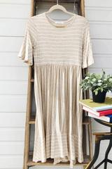 Kayla Flutter Sleeve Dress