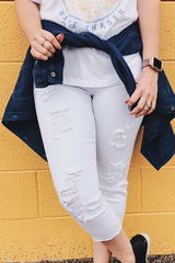 Oxford White Cropped Denim