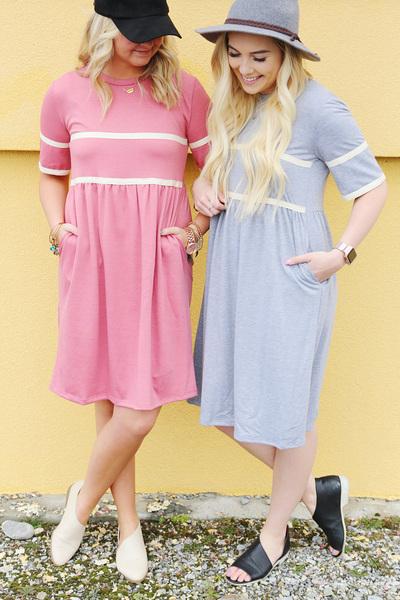 Two Stripe Midi Dress