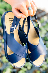Navy Jelly Sandals