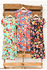 2 Floral Dresses=1 Great Price