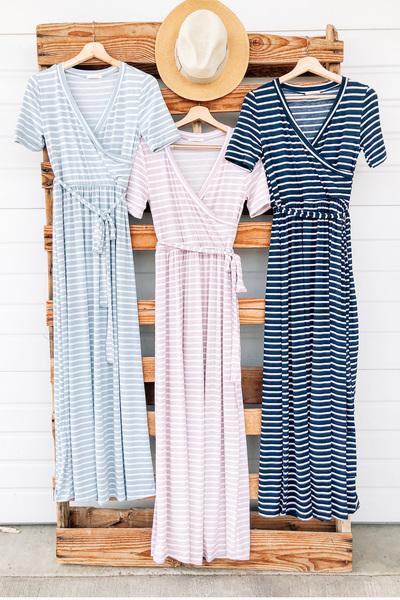 Ann Stripe Maxi Dress