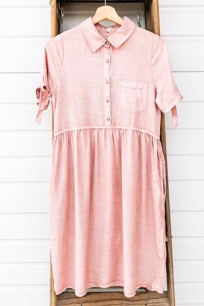 Blush Amelia Linen Dress