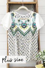 Spring Forward Embroider Top