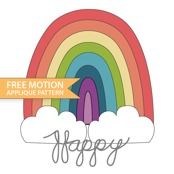 Free Motion Happy Rainbow