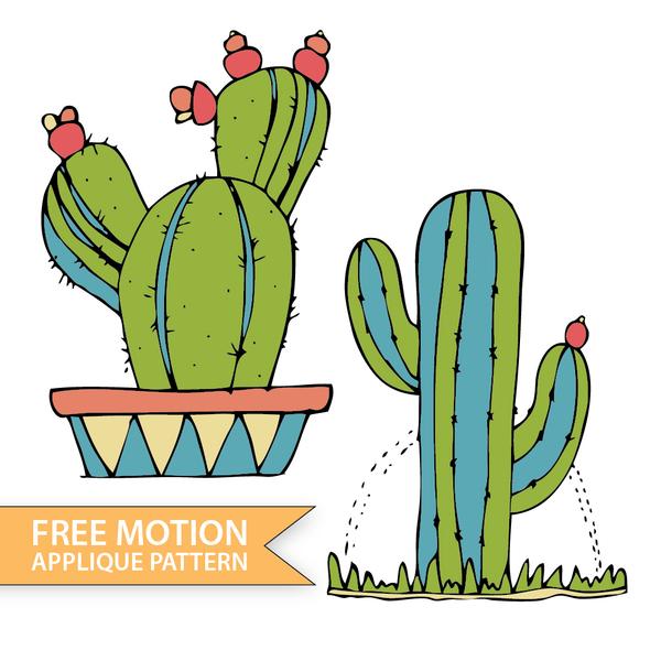 Free Motion Blooming Cactus
