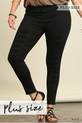 Stretch Distressed Jeggings