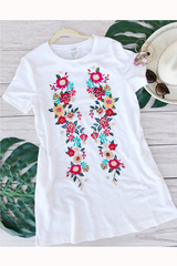 White Anne Embroider Tunic