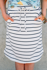 W+B Stripe Skirt