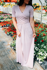 Blush Ann Stripe Maxi Dress