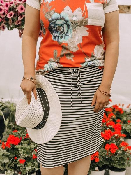 Licorice Stripe Skirt