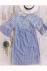 Boho Pinstripe Dress