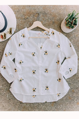 Embroidered Button Down