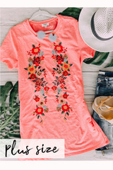Coral Anne Embroider Tunic
