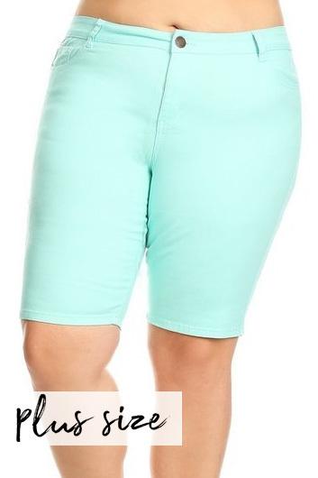 Mint Bermuda Shorts
