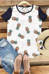 Pineapple Baseball Tee