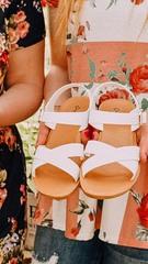 White Ocean Ave Sandals