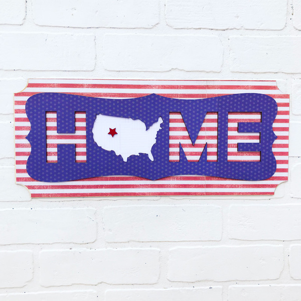 Home Sweet USA Plaque