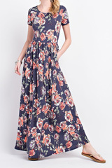Navy Summer Night Maxi Dress
