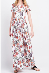 Ivory Summer Night Maxi Dress