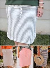 Stripe Tie Skirts