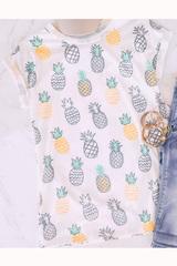 White Pineapple Sketch Tee