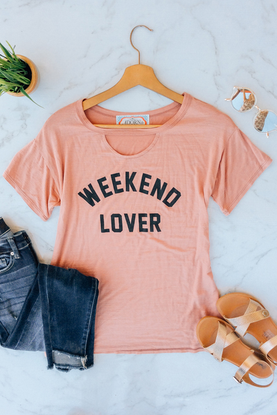 Blush Weekend Lover Tee