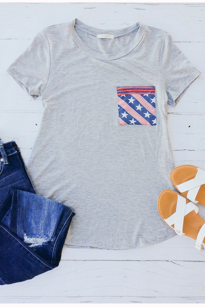 Patriotic Pocket Tee