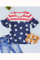 USA Flutter Sleeve Top