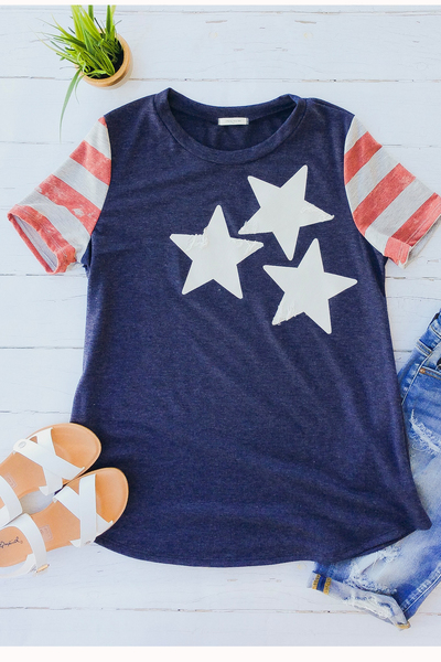 Three Stars & Stripes Tee