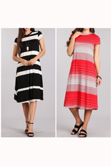 Simple Stripes Swing Dress