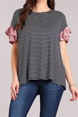 Pop Star Ruffle Sleeve Top