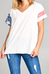 Flag Sleeve Tee