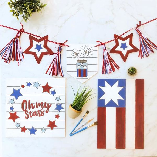 Red White Blue Farmhouse Collection