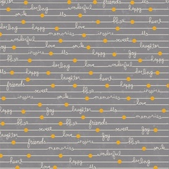 Happy Notes Gray
