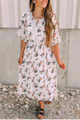 Ivory Floral Mckenzie Dress