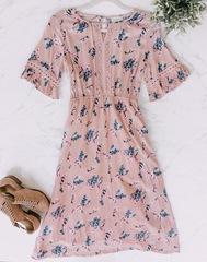 *PT- Pink Floral Mckenzie Dres