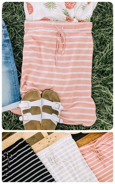 Everyday Double Stripe Skirt