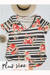 PLUS Rose Garden V-neck