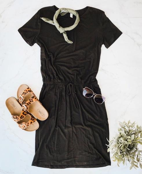 Black Hanna Midi Dress
