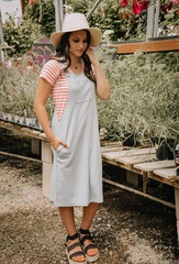 Pale Teal Overall Dress