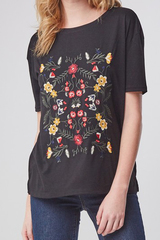Black Aspen Embroider Tee