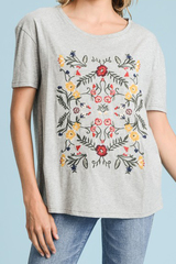 Grey Aspen Embroider Tee
