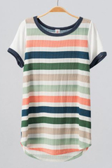 Striped Waffle Texture Tee