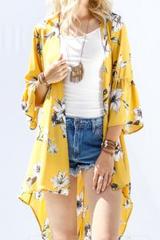Sunny Ruffle Sleeve Kimono