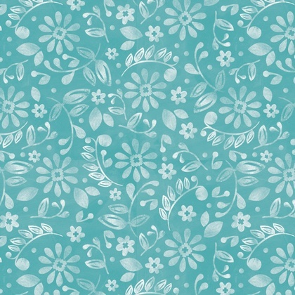 Etched Blossoms Turquoise