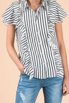Stripes All Around Button Down