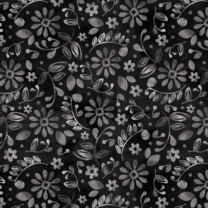 Etched Blossoms Black