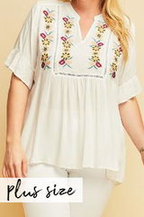 PLUS Jenny Embroider Blouse